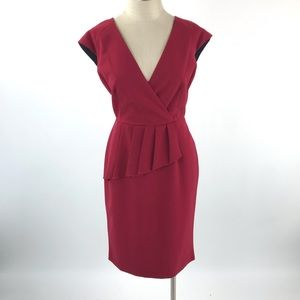 Evan Picone Womens Peplum Sheath Dress